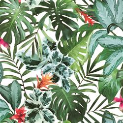 Green Rainforest Palm Print Removable Wallpaper