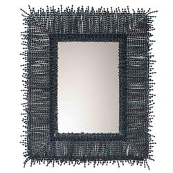 Palecek Amaya Global Bazaar Wood Beaded Wall Mirror