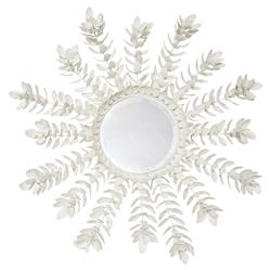 Palecek Coco Magnolia Global Bazaar Off-white Hand-Cut Coco Shell Mirror