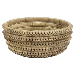 Palecek Kenis Coastal Beach Pole Rattan Braided Bowl