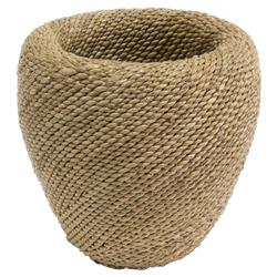 Palecek Pike Coastal Beach Hand-Twisted Natural Abaca Rope Bowl - Small