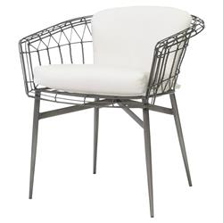 Palecek Terrasse Modern Classic Steel Frame Outdoor Occasional Chair