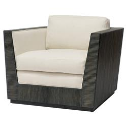 Palecek Tully Modern Classic Hardwood Frame Upholstered Outdoor Lounge Chair