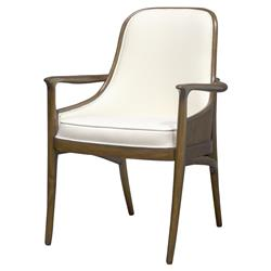 Palecek Woodland Modern Classic Veneer Back Dining Arm Chair
