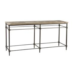 "Mattix French Country Reclaimed Wood 71"" Console Table 