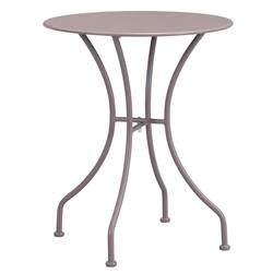 Ollie French Country Steel Round Outdoor Bistro Table