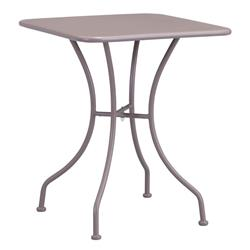 Ollie French Country Steel Square Outdoor Bistro Table