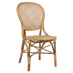 Lydia French Country Brown Rattan Dining Chair