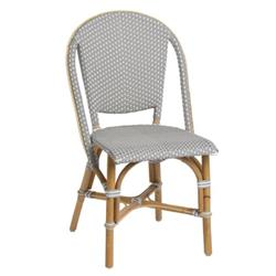 Selene French Country Grey Outdoor Rattan Dining Side Chair