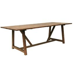 Jacob Rustic Lodge Brown Teak Outdoor Table
