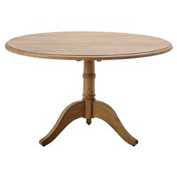 Cali Rustic Lodge Reclaimed Teak Round Pedestal Dining Table