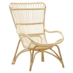 Alexis Coastal Beach Natural Rattan Occasional Arm Chair