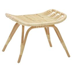 Alexis Coastal Beach Natural Rattan Stool
