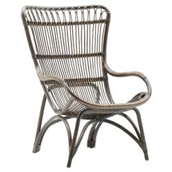 Alexis Coastal Beach Grey Rattan Occasional Chair