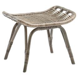 Alexis Coastal Beach Grey Rattan Stool