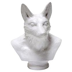 Oly Studio Pax Modern Classic Fox White Resin Sculpture