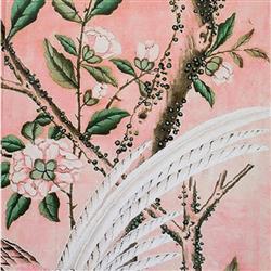 Anewall Magnolia Modern Classic Pink Paper Wallpaper