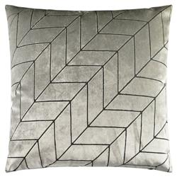 Mason Modern Classic Square Silver Feather Down Pillow - 24 x 24