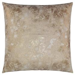 Oliver Modern Classic Square Gold Feather Down Pillow - 20 x 20