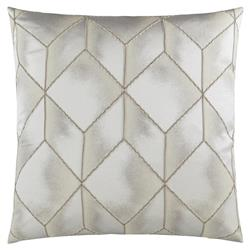 Julian Modern Classic Square Platinum Feather Down Pillow - 20 x 20