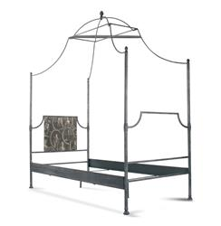 Dalton French Country Rustic Metal Old World Canopy Bed - Twin