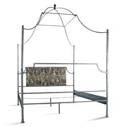 Dalton French Country Rustic Metal Old World Canopy Bed - Queen | Kathy Kuo Home