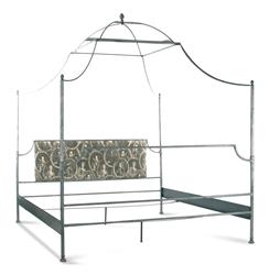 Dalton French Country Rustic Metal Old World Canopy Bed - King