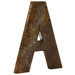 "Industrial Rustic Metal Large Letter A 36""H 
