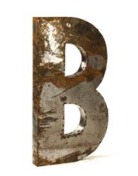Industrial Rustic Metal Large Letter B 36 Inch