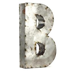 "Industrial Rustic Metal Small Letter B 18""H 