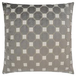 Leo Modern Classic Square Greystone Feather Down Pillow - 22 x 22