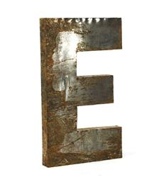 "Industrial Rustic Metal Large Letter E 36""H 