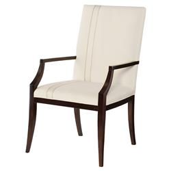 Claire Moden Classic Black White Upholstered Dining Arm Chair