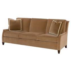 Highland House Walker Modern Classic Brown Feather Down 3 Cushion Sofa