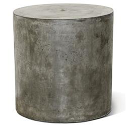 Conan Modern Round Grey Concrete Outdoor Side End Table