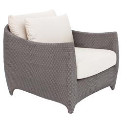 Prime Weston Modern Beige Upholstered Grey Rattan Outdoor Lounge Chair Alphanode Cool Chair Designs And Ideas Alphanodeonline