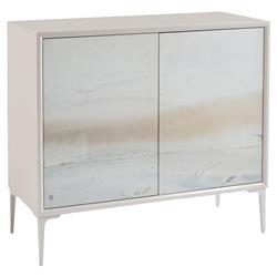 John-Richard Modern Classic River Light Grey Blue Metal Leg Two Door Cabinet