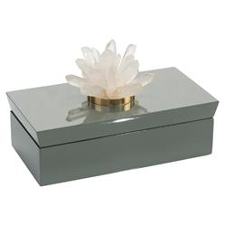 John-Richard Modern Classic Gray Box Quartz Decorative Box