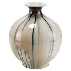 John-Richard Modern Classic Hues Of Blues Blue Grey Vase
