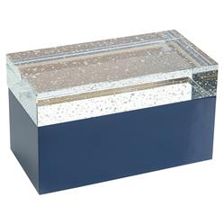 John Richard Modern Classic Suspended In Motion Crystal Blue Rectangular Box