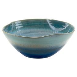 John-Richard Modern Classic Shades Of Nantucket Blue Glaze Ceramic Bowl