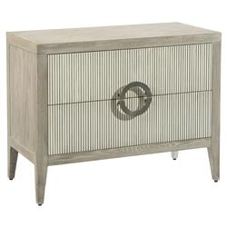 John Richard Modern Classic Perth Grey Oak Reed Front Bachelor Chest