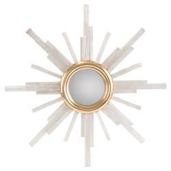 John-Richard Modern Classic Selenite Gold Frame Star Wall Mirror