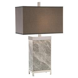 John Richard Modern Classic Gray Marble Polished Nickel Table Lamp