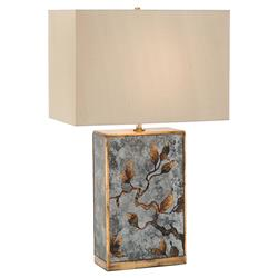 John-Richard Modern Classic Eglomise Rectangular Column Table Lamp