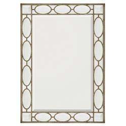 John Richard Modern Classic Calypso Rectangular Silver Wood Frame Mirror