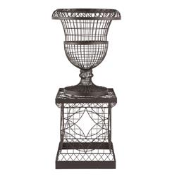 French Country Chateau Wire Frame Outdoor Urn Planter | AG-575GD