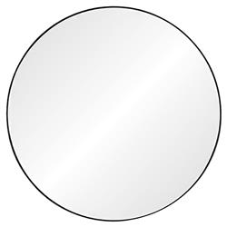 Alyssa Modern Classic Black Nickel Stainless Steel Round Mirror