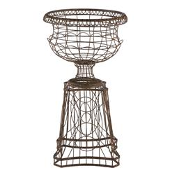 French Country Curved Base Wire Frame Planter | AG-581GR