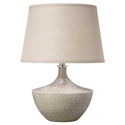 Amy Modern Classic Grey Ceramic Table Beige Linen Shade Lamp